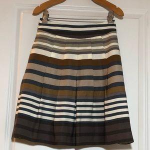 Banana Republic Petite Striped Pleated Skirt